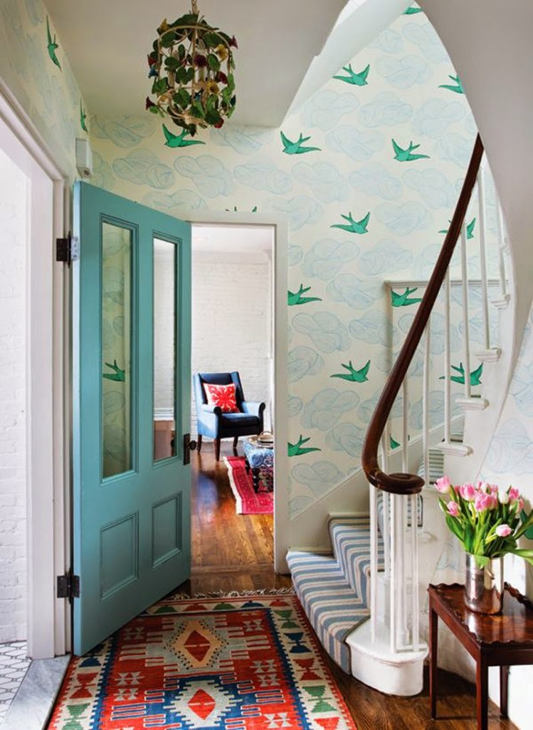 wallpaper+bird+hallway