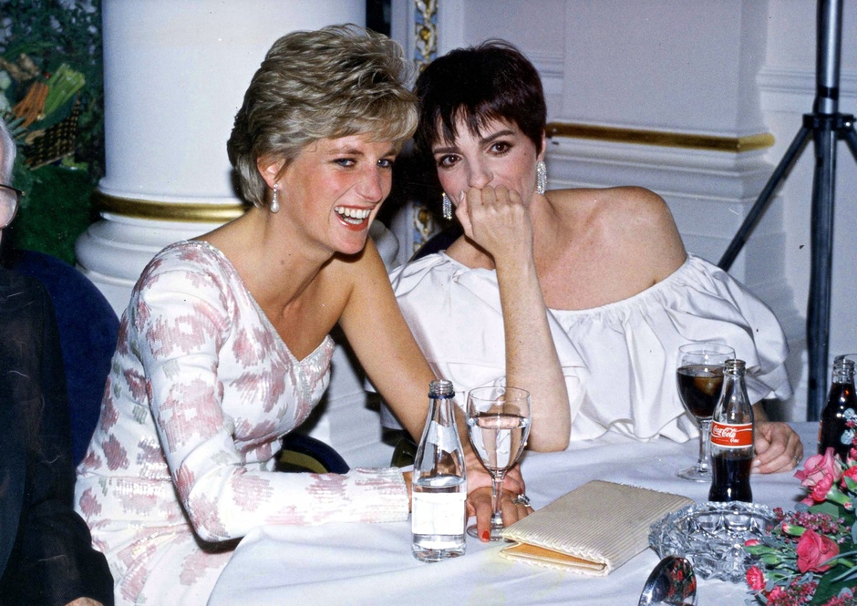 Princess of Wales and Liza Minnelli